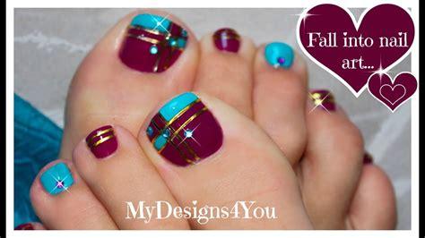 toe colors color block toenail purple and blue pedicure