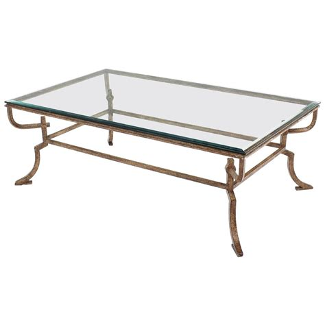 wrought iron coffee table heavy wrought iron studio work base glass top coffee table