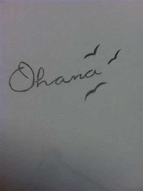 ohana means family tattoo idea ohana means family like this