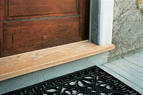 How To Install A Threshold For An Exterior Door Wooden Door Thresholds Doors