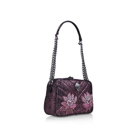 Tweed Crossbody Bag tweed plum crossbody pink shoulder bag by kurt geiger