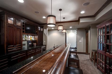 lower level bar contemporary living room other metro lower level bar traditional wine cellar other metro