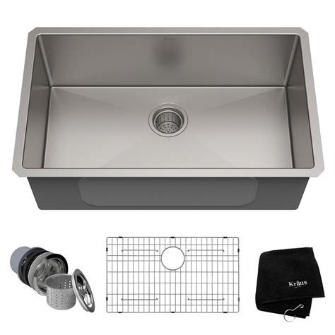 kraus stainless steel sink cleaner ruvati undermount stainless steel 26 in single bowl