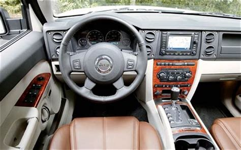 jeep commander inside 2006 jeep commander first drive road test review