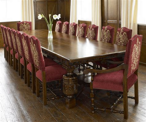 16 Seater Dining Table Dining Rooms Accessories Furniture Gorgeous Oak Wood Dining Table With Large Rectangular