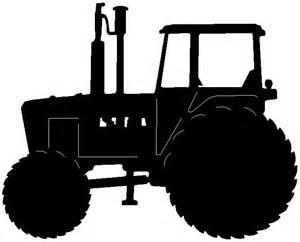 tractor silhouette stencil car tuning