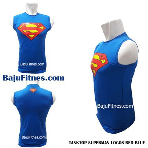 Kaos Superman Logo Blue 089506541896 tri shop fitness baju olahraga