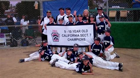 section 2 little league california rancho san diego little league team wins section 7