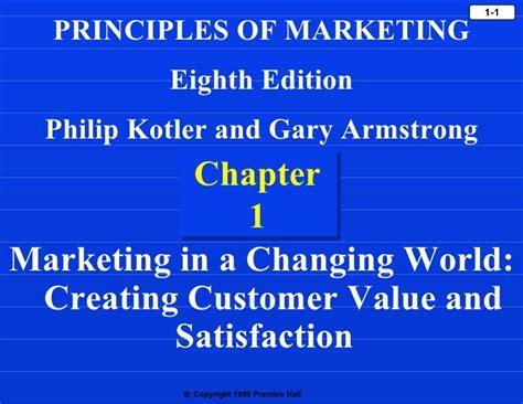 Marketing Strategy 8th Edition marketing philip kotler ch 1