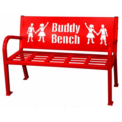 bench buddy paris 4 ft red buddy bench 460 343 0010 the home depot