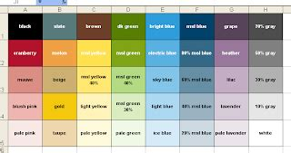 excel color palette s create a custom excel color palette