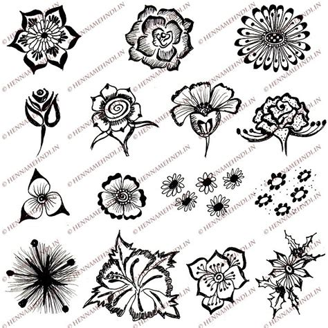 easy flower designs 15 quick and easy henna flower designs henna mehndi designs