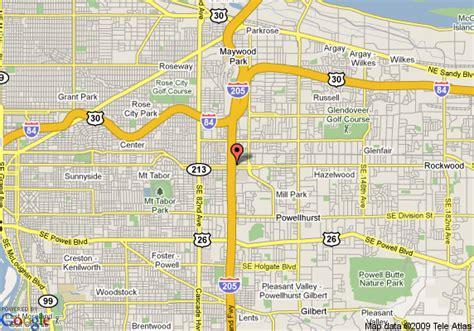 map of oregon 205 map of inn express portland i 205 portland