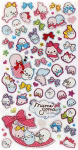 Cute mamegoma glitter san x sticker with ribbons sticker sheets