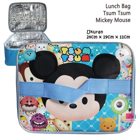 Lunch Bag Ransel Tenteng Fiber Tsum Tsum lunch bag tsum tsum mickey mouse 2 tas tempat makan magenta room
