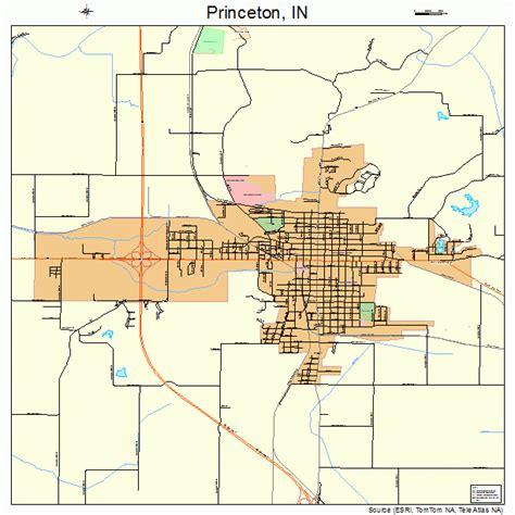 princeton map princeton indiana map 1862046