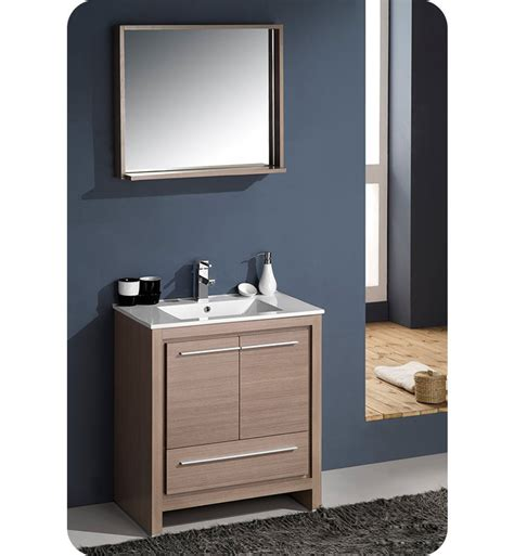 modern gray bathroom cabinets fresca fvn8130go allier 30 quot modern bathroom vanity with