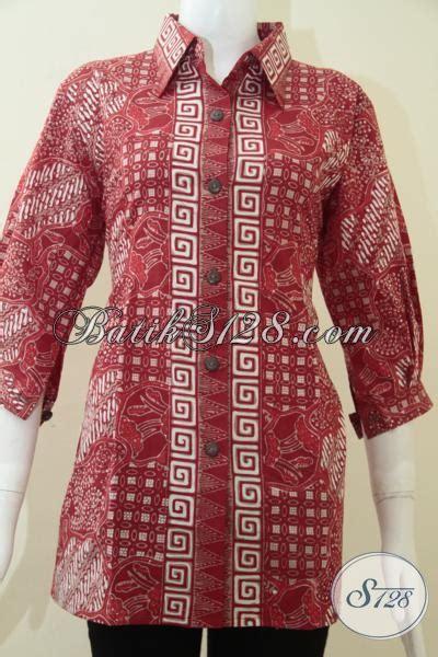 Lb 2239 Baju Batik Sarimbit Pasangan Rok Blus Kutubaru trend batik warna merah untuk acara resmi bls1185ct l