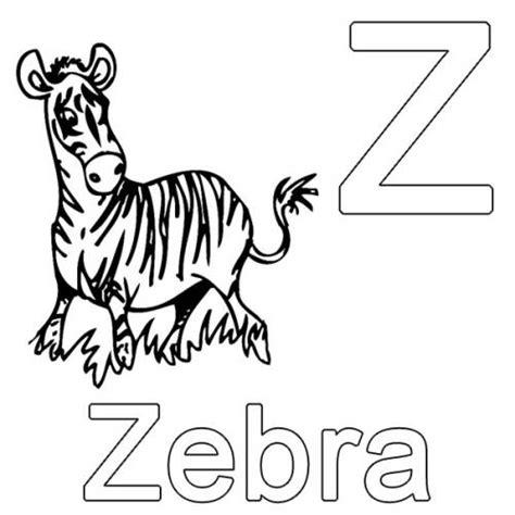 kostenlose malvorlage buchstaben lernen  wie zebra zum