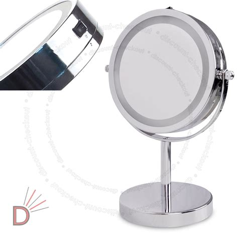 illuminated magnifying bathroom mirrors round magnifying led illuminated bathroom make up cosmetic