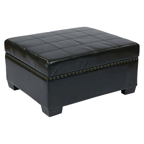 target leather storage ottoman detour storage ottoman eco leather office star target