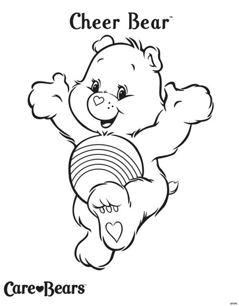 cheer bear coloring pages care bears colour cheer bear treehouse
