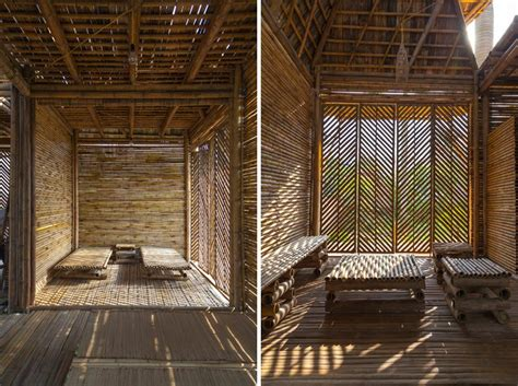 design concept bamboo flood resistant blooming bamboo home by h p architects
