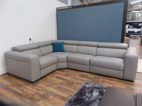 natuzzi grey leather sofa natuzzi editions grey leather power reclining sofa