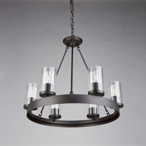 Bronze Dining Room Chandelier Menlo Park 6 Light Rubbed Bronze Chandelier Artcraft Lighting
