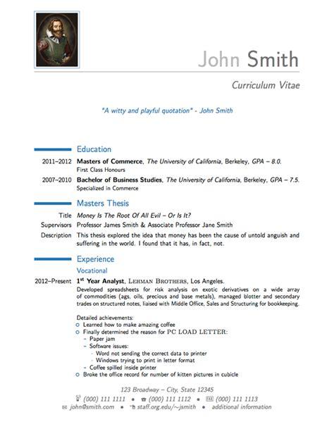 German resume examples