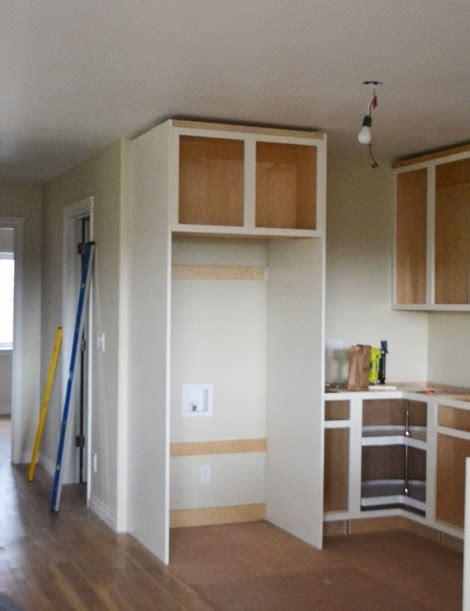 Cupboard Fridge - boxing in fridge with cabinetry momplex vanilla kitchen