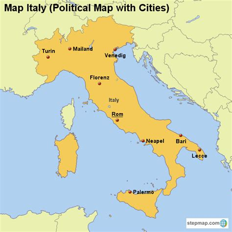 italy political map map italy political map with cities map created by