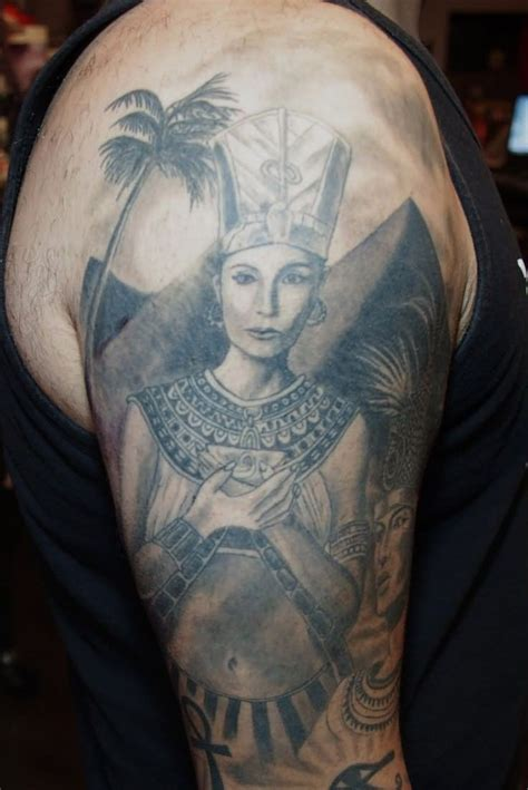 egyptian quarter sleeve tattoo ancient egyptian gods tattoos on leg by oscar hove