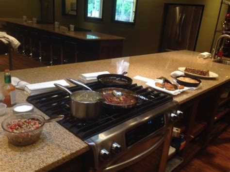 Kitchen Cooking Table Warm Welcome Picture Of Chef Darin S Kitchen Table On Cooking Classes