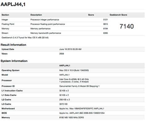 geek bench browser geekbenchに早くも new mac pro new macbook pro のスコアが登録される