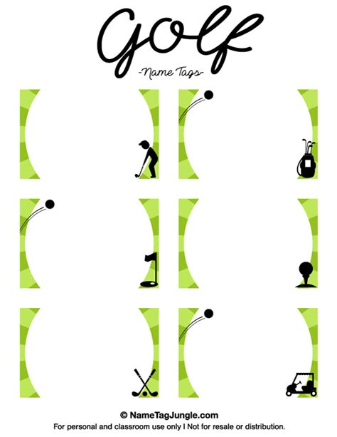 printable golf templates free printable golf name tags the template can also be