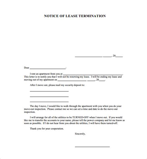 Transfer Booking Letter sle notice cancellation letter 10 free documents in