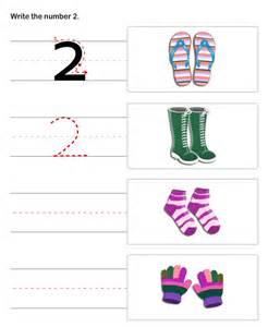 Printable pre k worksheets number 2 on pre k worksheet numbers