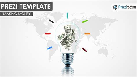 making money prezi template prezibase