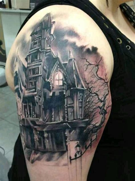 25 best ideas about haunted house tattoo on pinterest