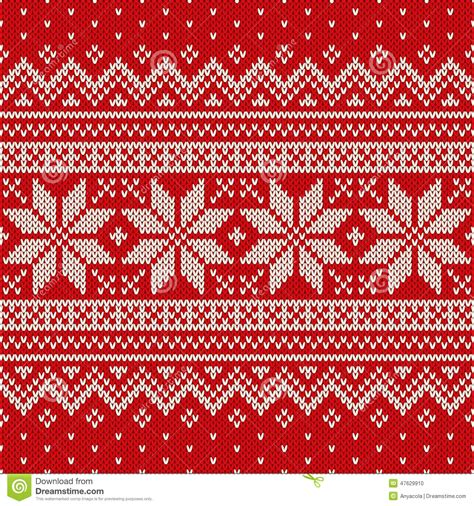 holiday pattern texture seamless knitted pattern wool sweater design stock vector