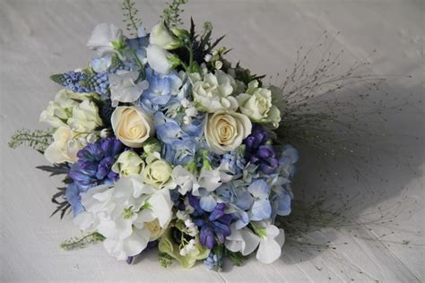 Wedding Bell Hydrangea by Wedding Bouquets In Purple Lavender Blue And Chagne