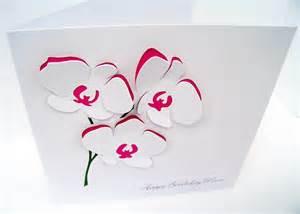 carte dorchid 233 e fleurs personnalis 233 carte f 234 te des