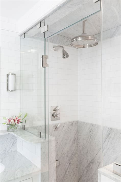 Tiles For Bathroom Showers Mixed Shower Tiles Transitional Bathroom Reiko Feng Shui Design