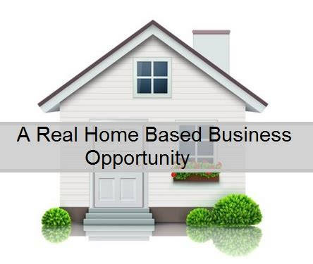 a real home based business opportunity business