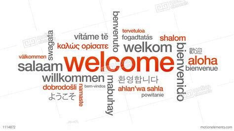 language in welcome in different languages stock animation 1114872