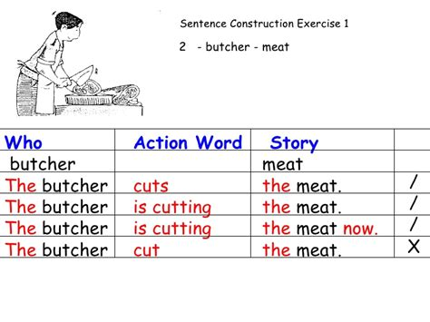 section in a sentence section a sentence construction