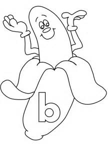 Alphabet B Banana Coloring Pages Coloring Pages