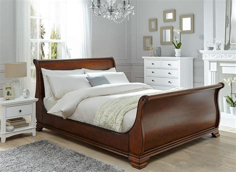 wooden beds orleans walnut wooden bed frame dreams