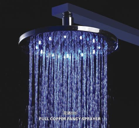china rgb colorful led shower heads sq a series sr a200